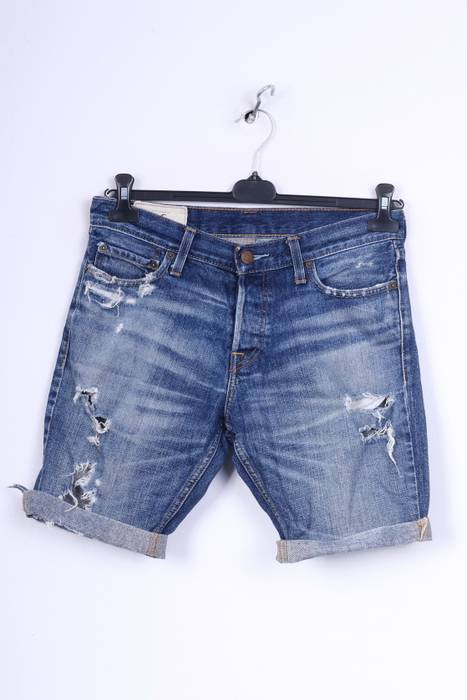 d73ae64dc99 Hollister. Hollister California Mens W30 Denim Shorts Jeans Ripped Cotton  Blue 3259