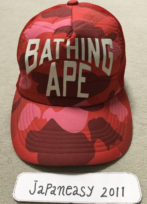 50fe8c71aa9 Bape BAPE OG RED CAMO TRUCKER HAT Size one size - Hats for Sale ...