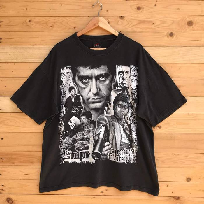 Vintage Rare Vintage Scarface Say Goodnight To The Bad Guy T Shirt