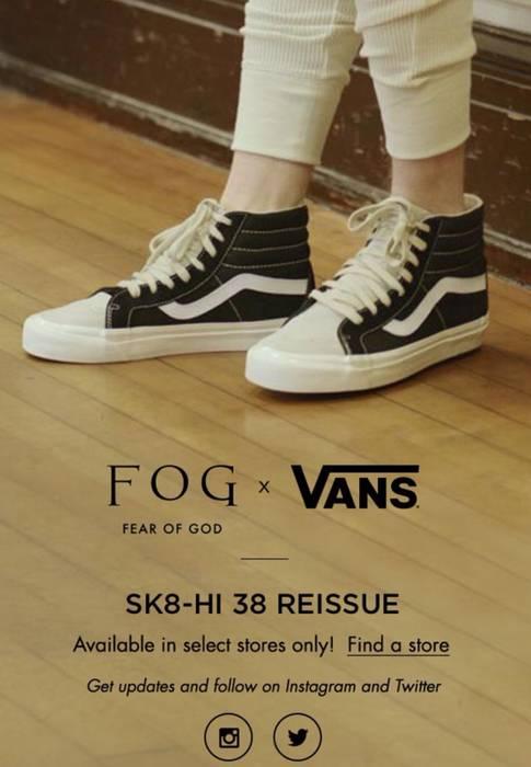 218ed9ae1909 FOG Fear of God x Pacsun FOG sk8 Hi Vans size 9 Size 9 - Hi-Top ...