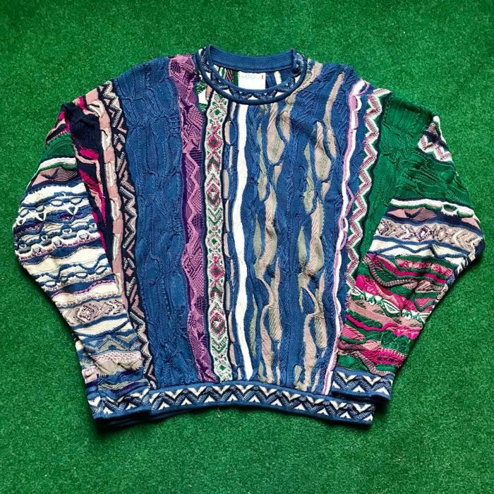 Coogi Vintage Coogi Sweater Knit Multi Color Crazy Design Biggie Size Us L Eu 52