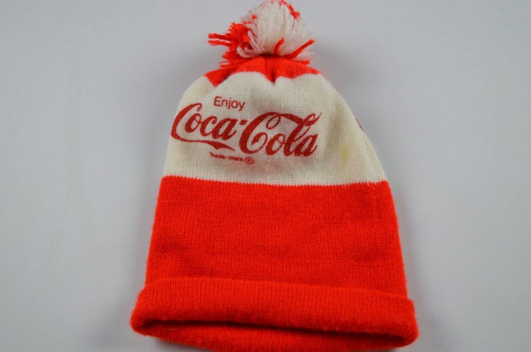 Vintage Vintage 50s Coca Cola Spell Out Casual Outdoor Winter Beanie Hat  Cap Red White Size 104fbf225599