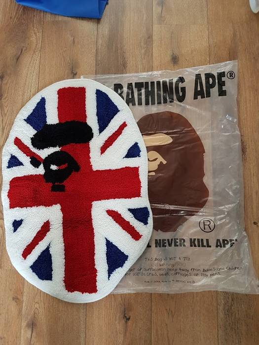Bape Union Jack Apehead Rug Size One Size Miscellaneous For Sale