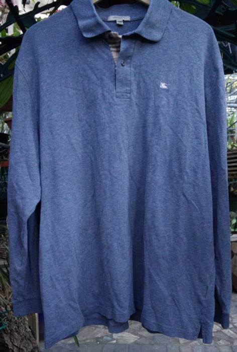 Burberry XXL Burberry London Gray Polo Long Sleeve Shirt Size xxl ... f31e883c132