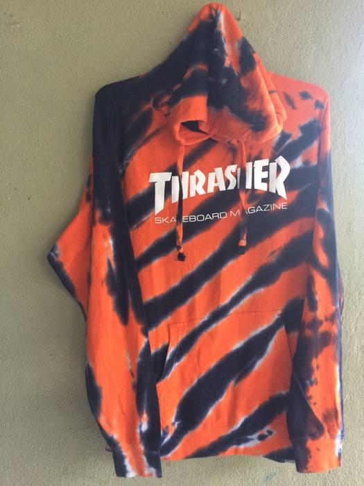 Thrasher Thrasher Orange Tie Dye Hoodie - Tiger Stripes Size xl ... cdc738967