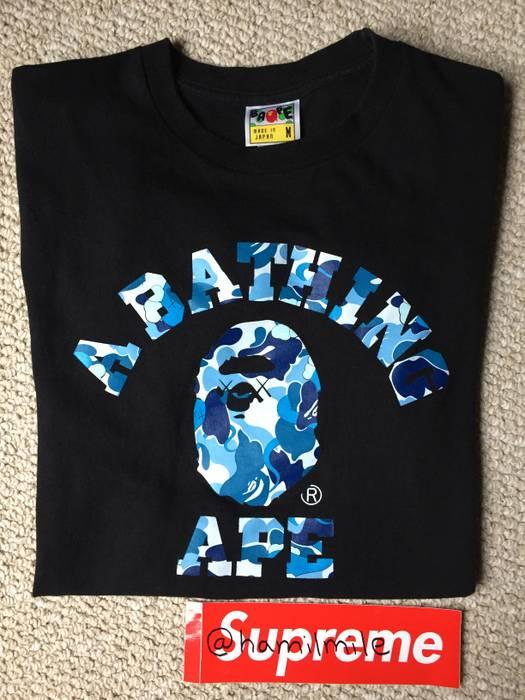 b750186c4 Bape Bape Kaws Original Fake Black Blue T Shirt Size US M / EU 48-