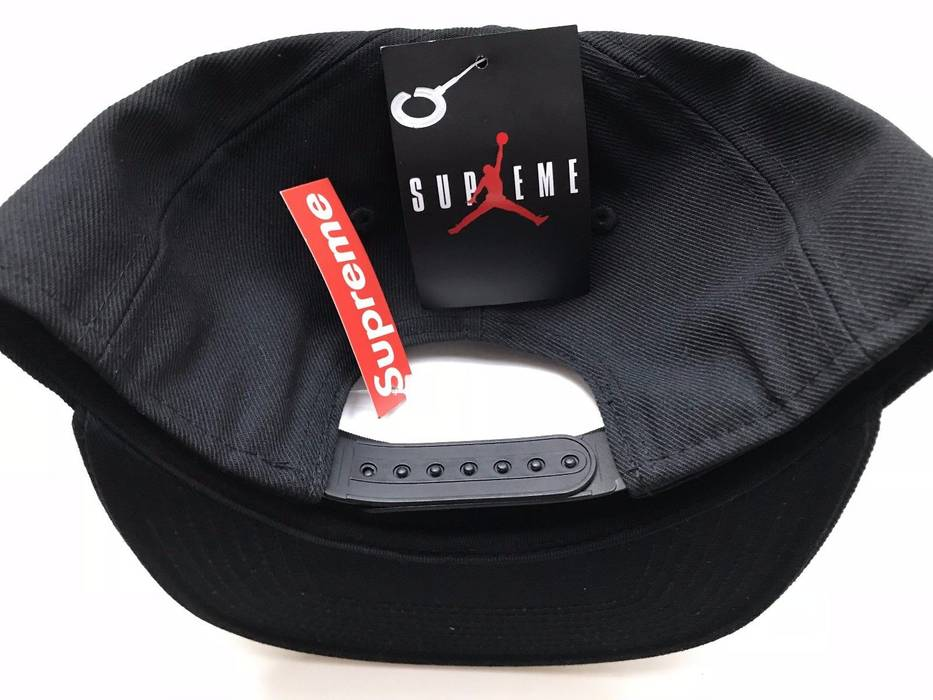 Supreme NEW Supreme x Air Jordan Black Snapback Hat Size one size ... eef45828e