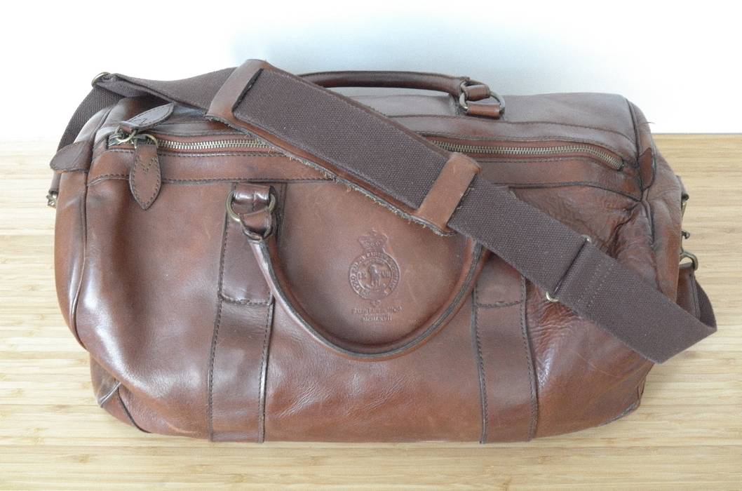 b97e9d1a24e2 Polo Ralph Lauren Brown Leather Weekender Travel Bag Size one size ...