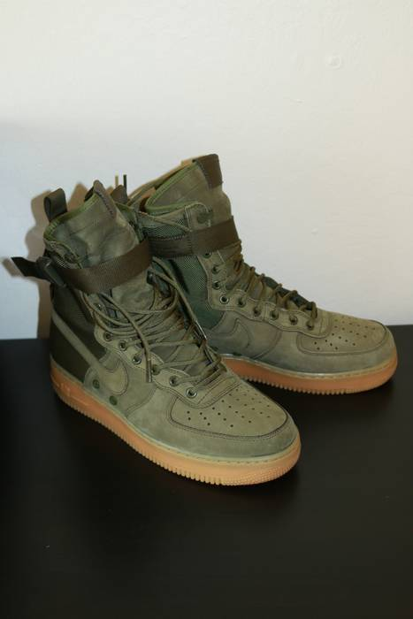 Nike Special Field Air Force 1 Faded Olive Gum Light Brown Size 10 ... 2f8bf7373bee