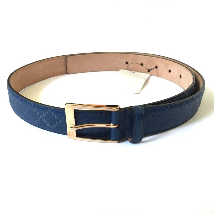 861cfc0940f Gucci Blue Diamante Leather Belt NWY Size 38 - Belts for Sale - Grailed