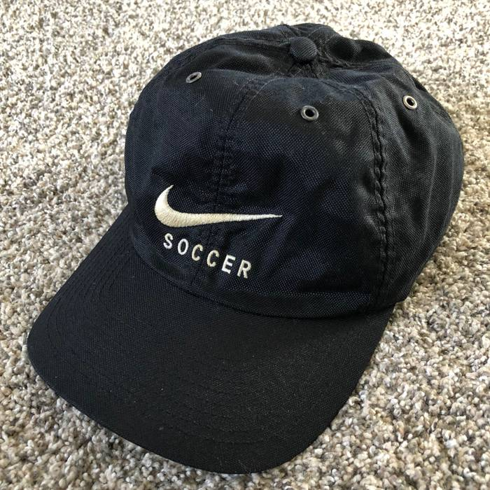 09b9613644a Nike Vintage Nike Soccer Embroidered Spell Out Swoosh Logo Strap ...