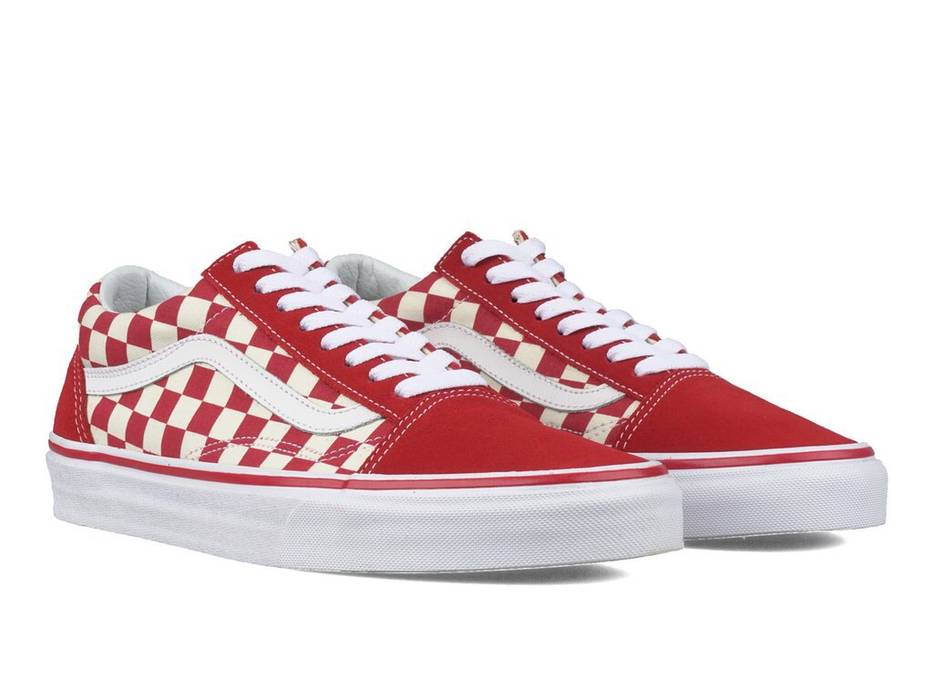 3ca20b9296 Vans Vans Old Skool Primary Checkered Red   Off White Size US 9.5   EU 42