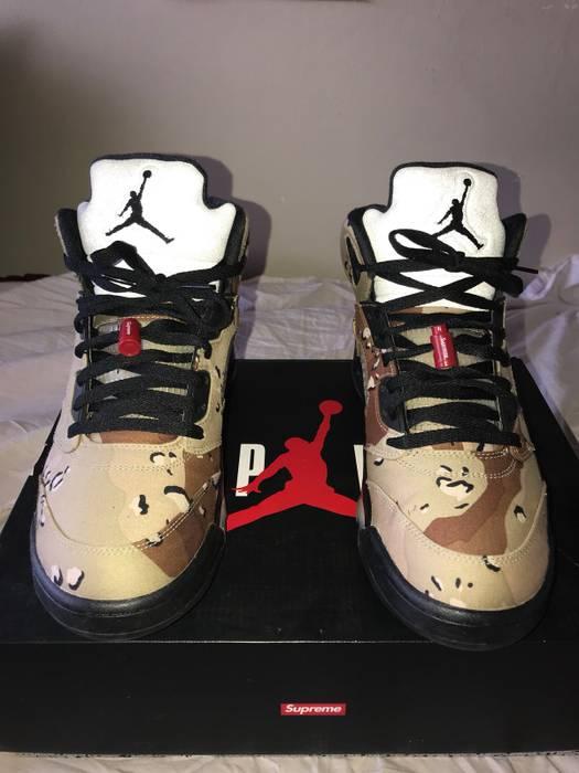 760f6a0a661727 Supreme Supreme Jordan 5 Desert Camo V Retro Nike Air Men s Size US 11   EU