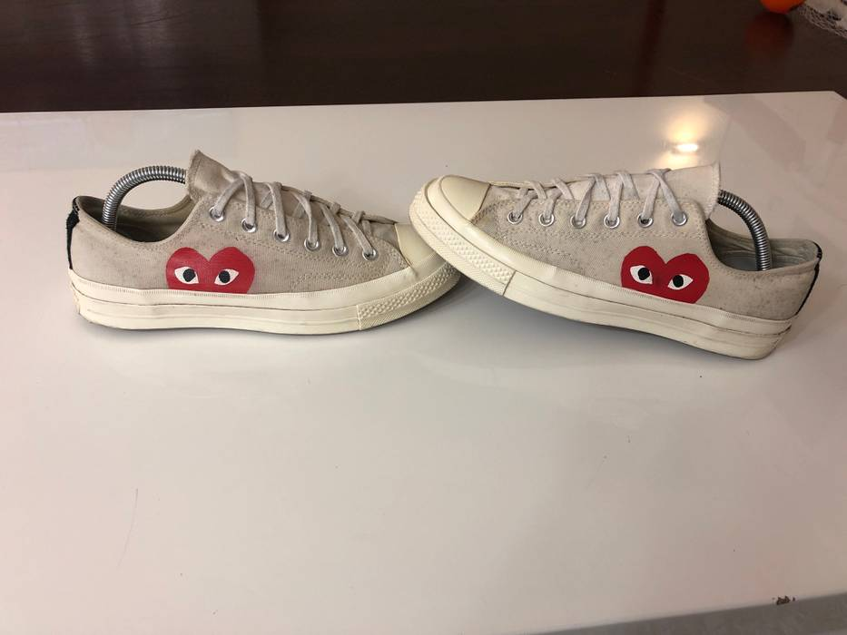 ce028ded190d Converse Comme Des Garçons Play Converse White Low Heart Eyes Sz 8 Cdg Cdgs  Steal Red