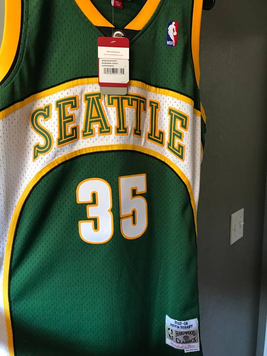0a6f56ef2 Mitchell   Ness. Mitchell   Ness Men s Seattle Supersonics  35 Kevin Durant  Hardwood Classic Jersey ...