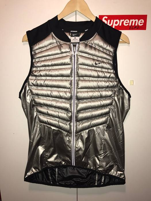 Nike Nike Aeroloft 800 Men s Running Silver Vest Size m - Vests for ... a6eb5a019