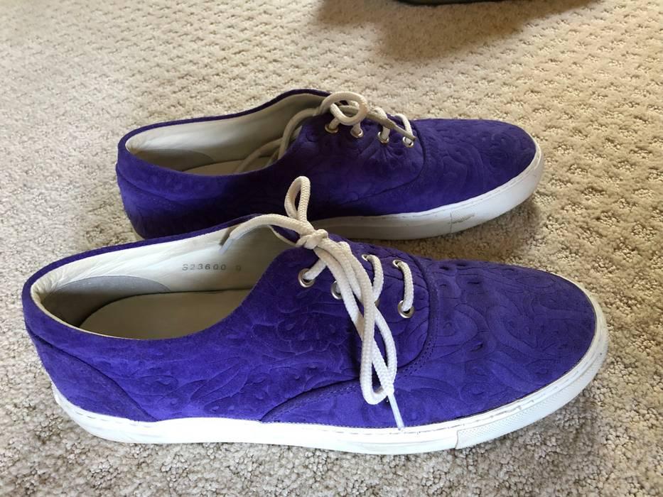 bf3b5837524240 Comme des Garcons Purple Paisley Suede Canvas Sneaker Size US 9   EU 42 - 4
