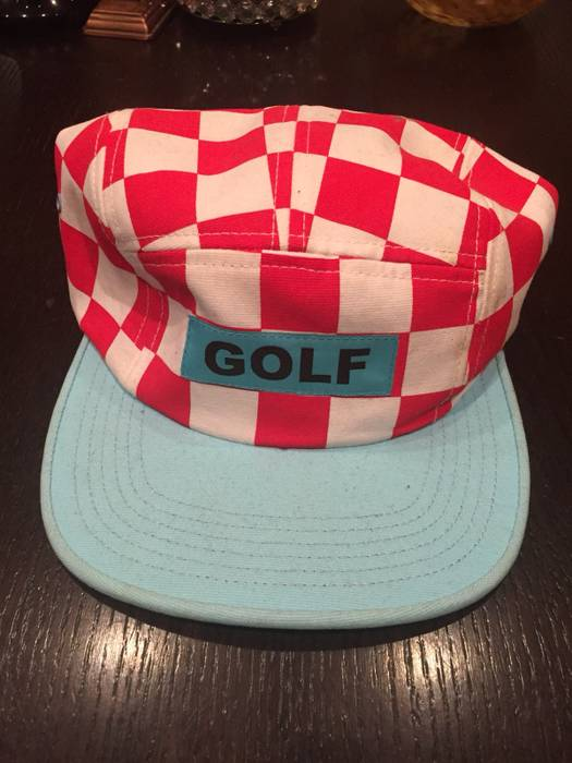 7117d612b04 Golf Wang Red And White Checker Camp Cap Size one size - Hats for ...