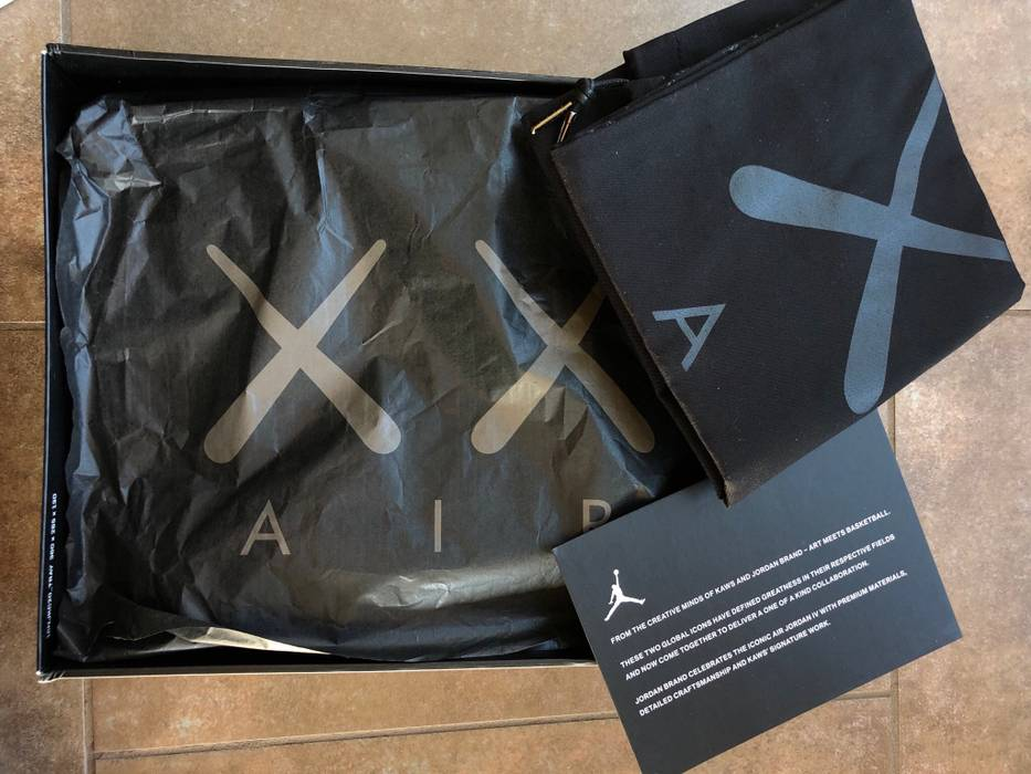 7a70491c4826 Jordan Brand Kaws Jordan 4 Black Size 14 - Low-Top Sneakers for Sale ...