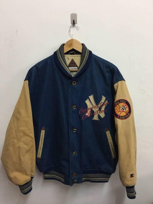 Starter New York Yankees Cooperstown Collection Denim Varsity Jacket