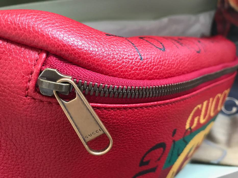 c271e5285df8 Gucci GUCCI 2017 F/W LIMITED EDITION COCO CAPITAN RED BELT WAIST BAG WITH  HANDWRITTEN