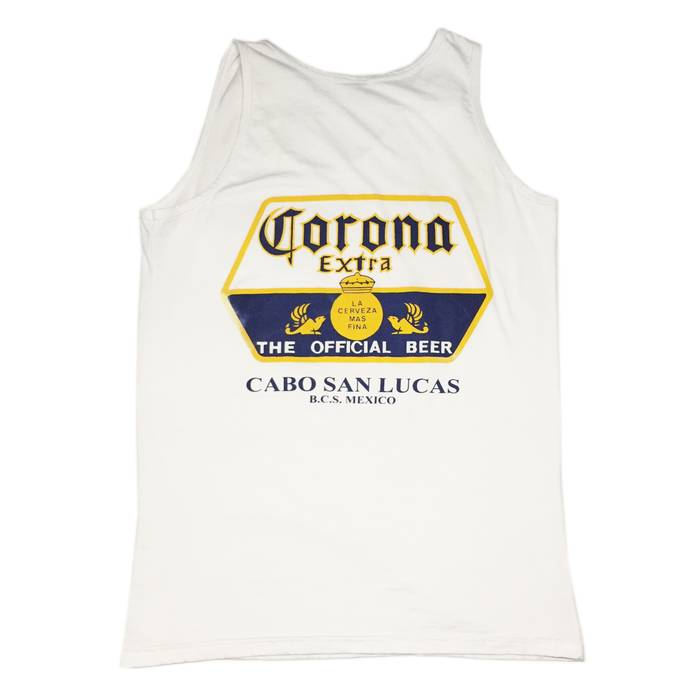 497d2ac0df262f Corona EXTRA CABO SAN LUCAS MEXICO BEER TANK TOP IN WHITE Size US L   EU
