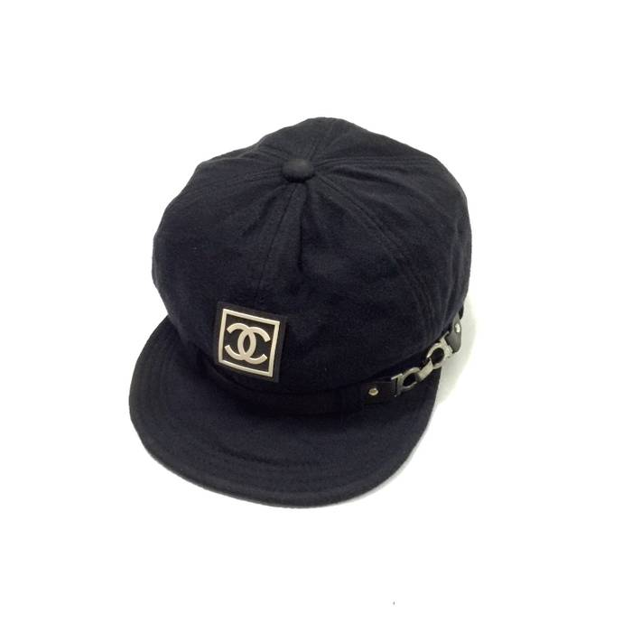 Vintage Vintage Chanel Cap with big logo Size one size - Hats for ... db2905dbea3