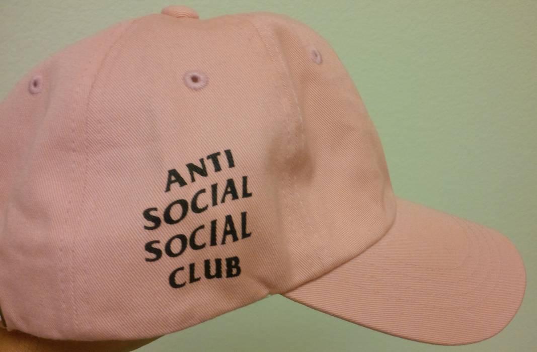 6ed76e16219 Antisocial Social Club ASSC Weird Cap (pink w  black letters) Size ...