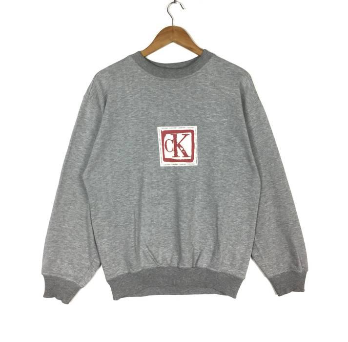 Calvin Klein CALVIN KLEIN JEANS Big Logo Silver Colour Sweatshirt ... e0464e6cb4