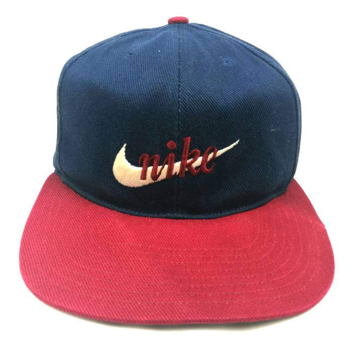 3f7cff94fd4 Nike nike cap vintage 90s white tag nike big swoosh logo block colour made  in taiwan