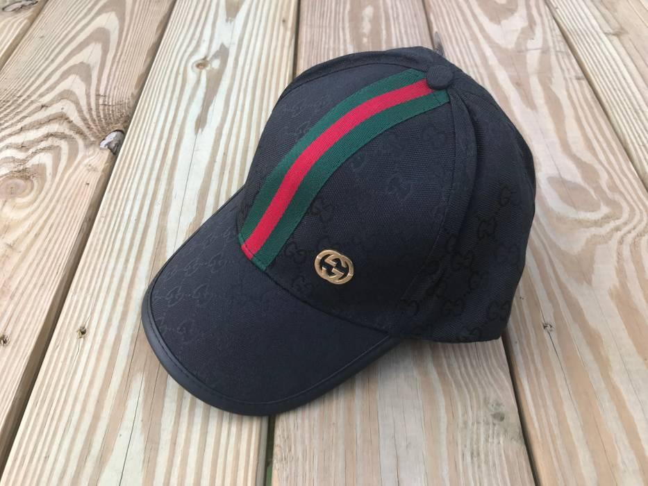Gucci Gucci Hat Mens Black Cap Baseball Snapback Golf Cap Hat Size ONE SIZE b2bd8d707b6