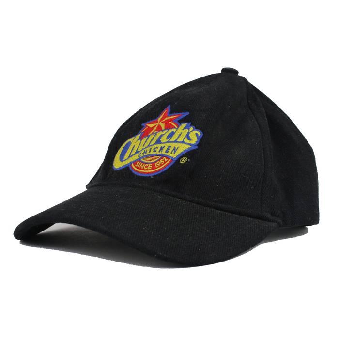 Vintage. Church s Chicken Since 1952 Black Strapback Baseball Dad Hat Cap 6483e0190b12