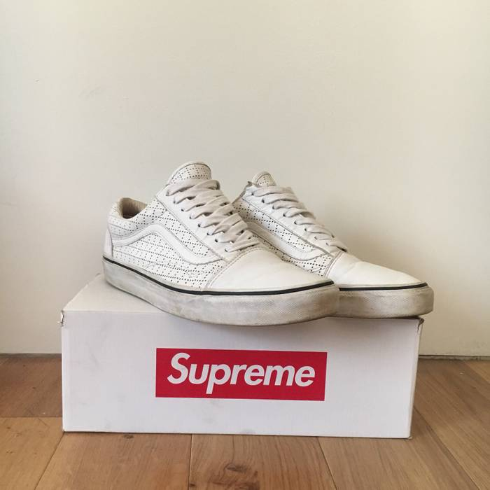 6edc9f395f1366 Supreme White Perf Leather Old Skool Size 11 - Low-Top Sneakers for ...