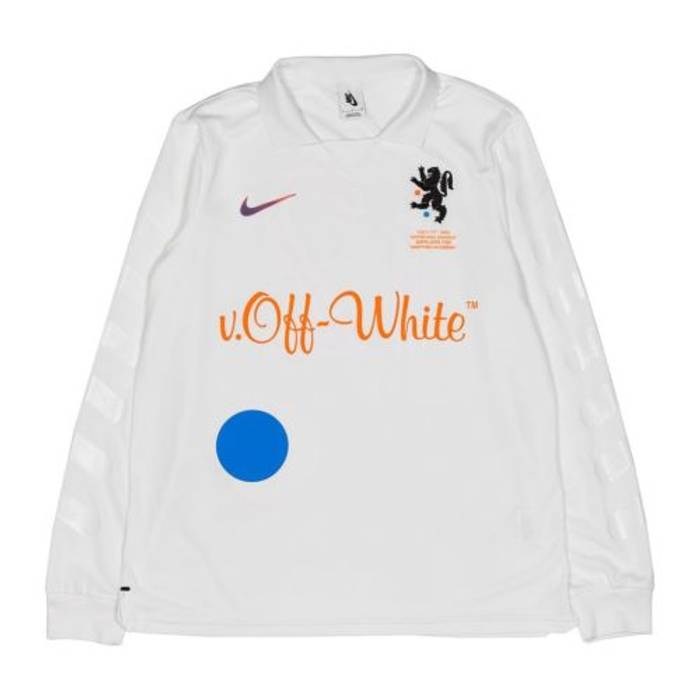 Nike Nike x Off White Football Jersey Mon Amour Soccer World Cup Long  Sleeve Size US be95a5e0b