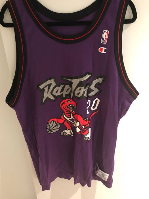 Vintage Purple NBA Toronto Raptors  20 Damon Stoudamire Jersey VTG Size US  XL   EU 6ce4b5f53