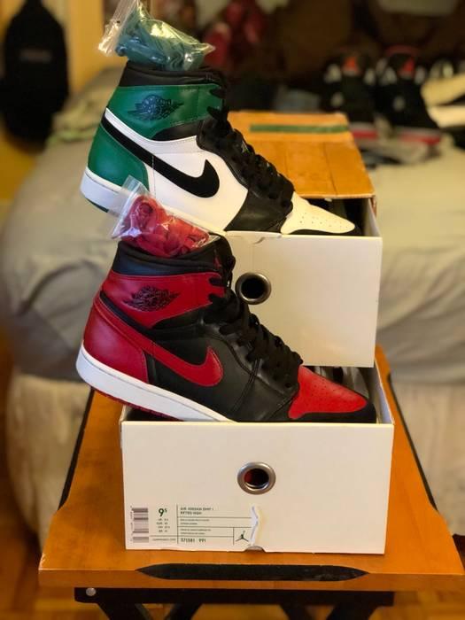 da4737430dc Nike Air Jordan 1 DMP Retro High Bred   Celtics size 9.5 Double Pack OG box