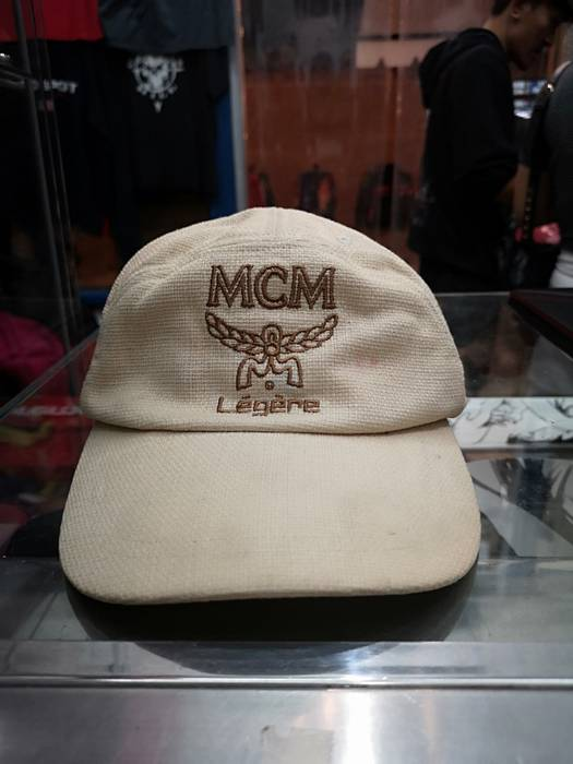 06e433aea11 MCM MCM Visetos Brown Baseball Cap Hat Adjustable 5 panel Muchen Badge Size  ONE SIZE