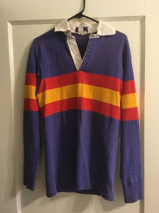 Vintage Patagonia Rugby Shirt Chouinard Medium Blue Red