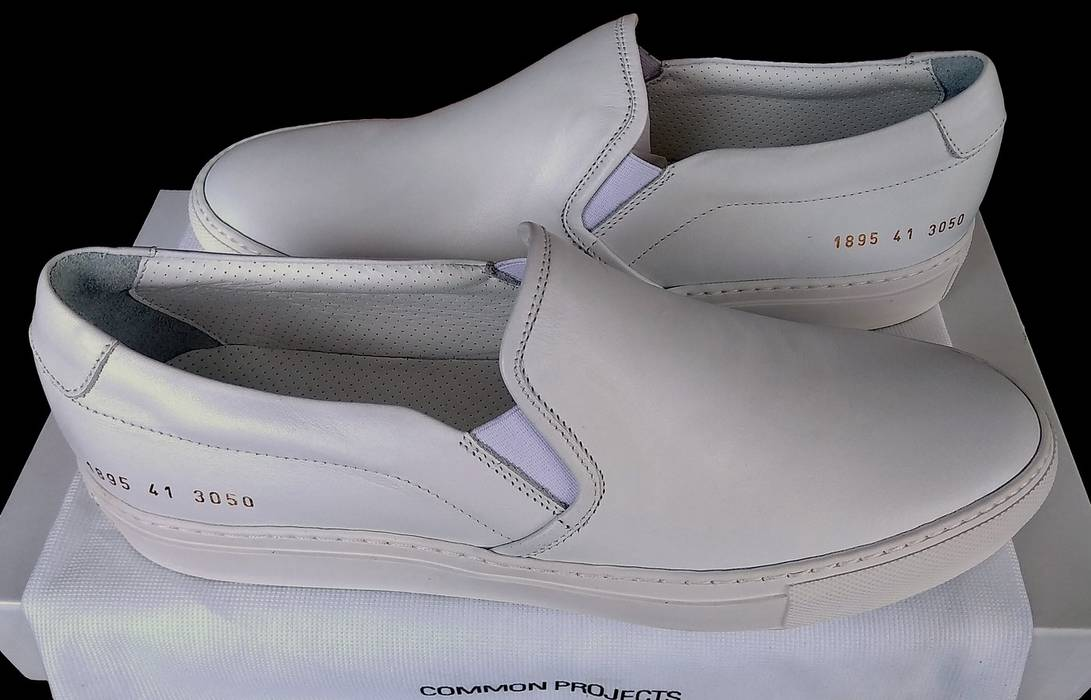 027cab4daa81 Common Projects Common Projects Slip On Leather White - DS Size 8 ...
