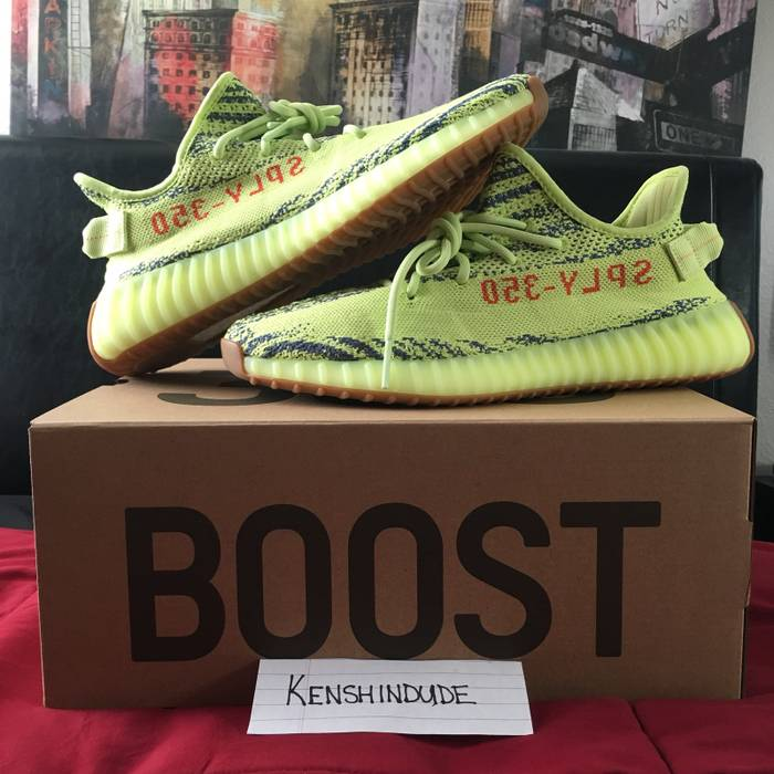 "e7ca84c40b46e Adidas Kanye West Yeezy Boost 350 V2 ""Semi-Frozen Yellow"" Size 10.5 ..."