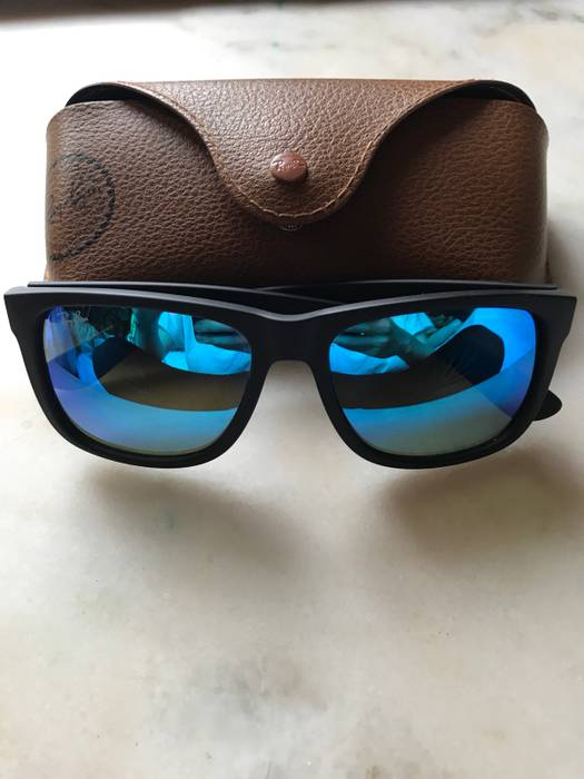 237bc9b1f0 ... germany rayban rayban justin rb4165 blue mirror lenses size one size  9d5bf 8a88f