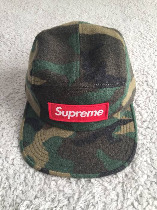 e31acac3b3e Supreme Green Camo Wool Camp Hat Size one size - Hats for Sale - Grailed