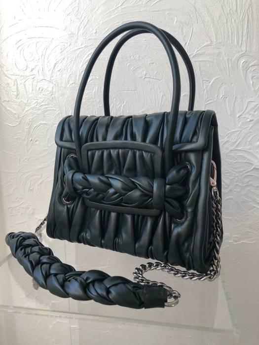 Miu Miu Women s BNWOT Miu Miu Matelasse green leather bag Size one ... d0facda24121b
