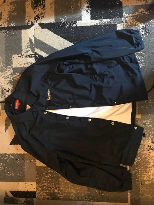 4ef7de301 Supreme Supreme Gonz Logo Coaches Jacket Navy Blue Size m - Light ...