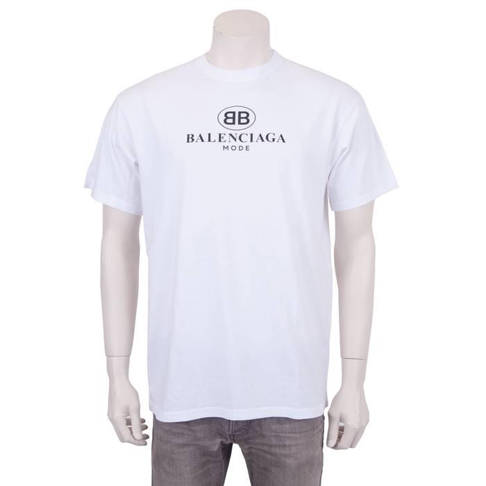 16d40b30 Balenciaga Balenciaga Mode Logo White tee Size m - Short Sleeve T ...