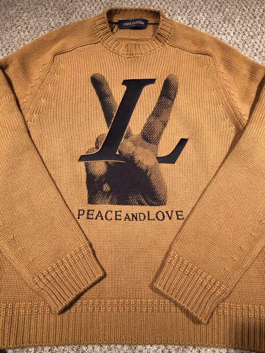 Louis Vuitton Peace And Love Sweater Size Xl Sweatshirts Hoodies