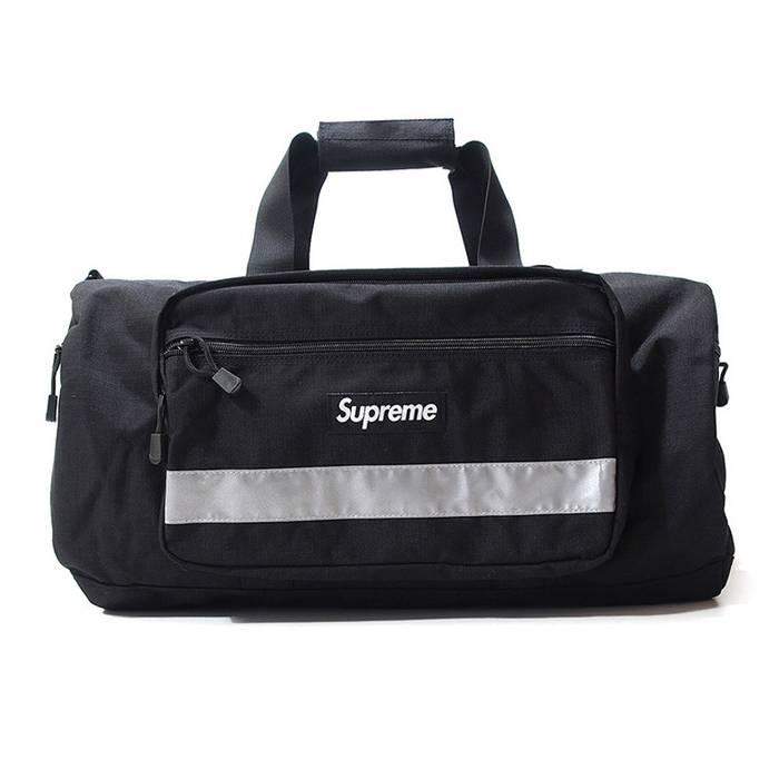 f7ed377c69e ... Supreme Supreme Hi Vis 3M Reflective Black Duffle Bag FW14 Size ONE  SIZE ...