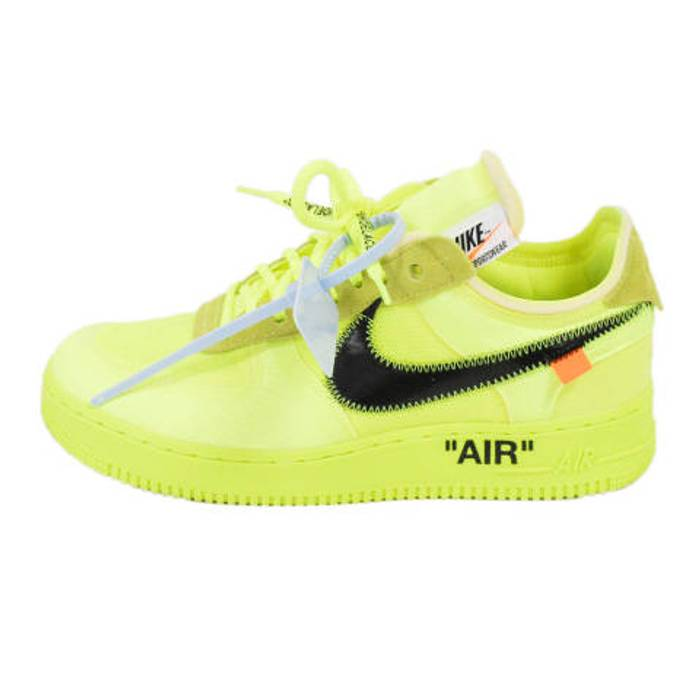 8556f74c0769 Nike Low top Yellow AO 4606 - 700 Air Force 1 VOLT Sneaker Size 9 ...