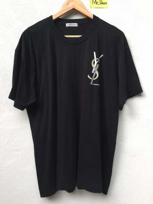 ed2d7dbe1 Yves Saint Laurent Vintage YSL logo shirt 90s Size l - Short Sleeve ...