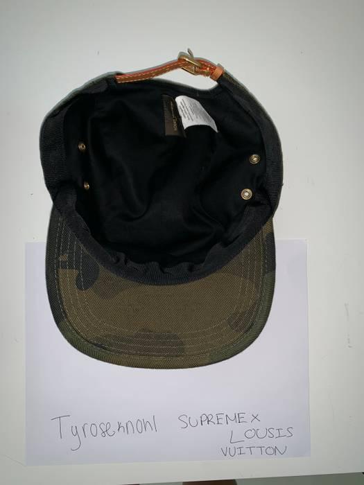 Supreme SUPREME X LV LOUIS VUITTON CAMO CAMP HAT Size one size ... a9d13220b3e5